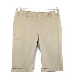Banana Republic khaki bermuda shorts